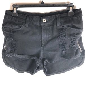 CarMar Destroyed Shorts With Zippers